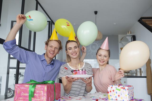 友達の誕生日のサプライズパーティー