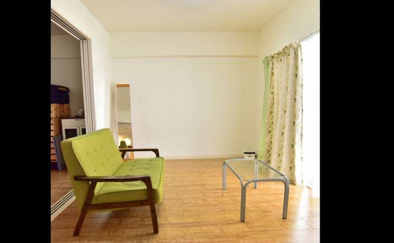緑と白を基調としたお部屋です。