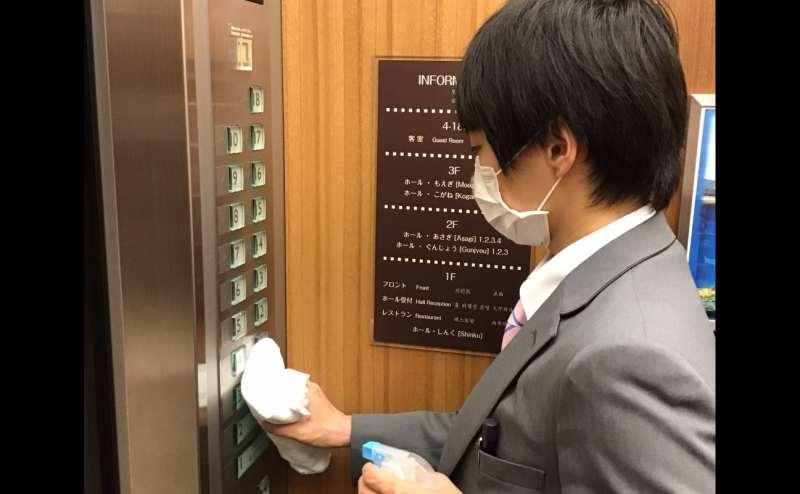 共有部分の消毒につきましては、当館スタッフが定期的に行います