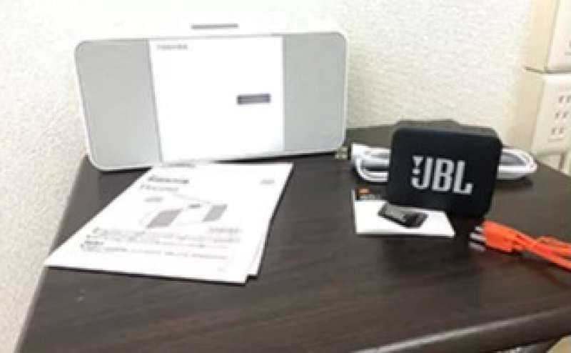 CDプレーヤー、Bluetoothスピーカーをご用意しています。設備はすべて無料でご利用いただけます