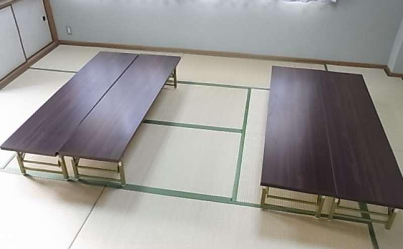 パーティや打上げでは低い机を使用される方が多いです