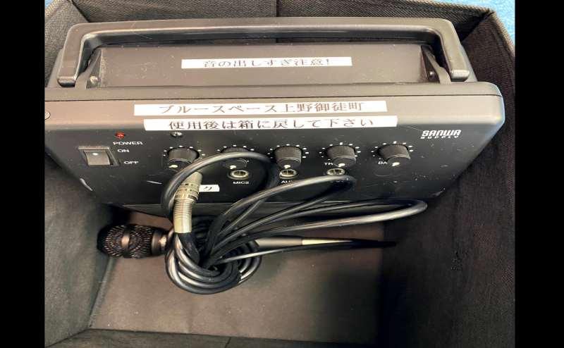 マイクスピーカー 有線のため安定した音質です。 (音の出しすぎに注意して下さい)