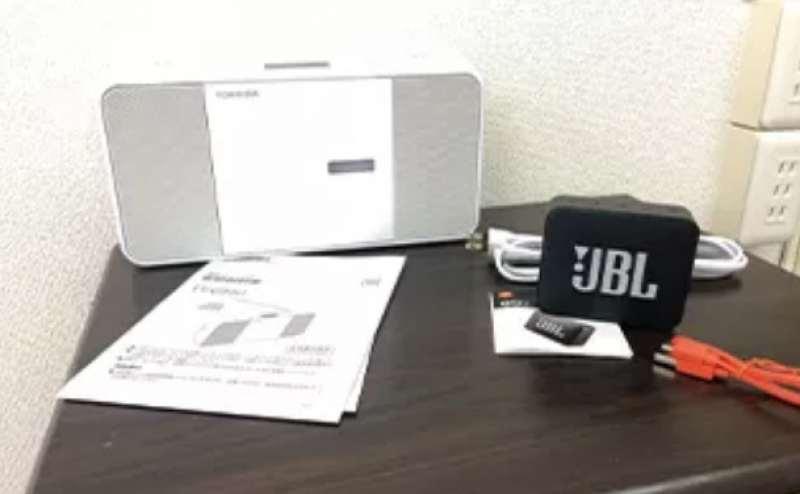 CDプレーヤー、Bluetoothスピーカーをご用意しています。ご自由にご利用ください