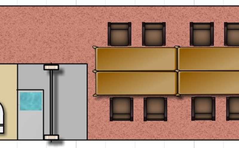 レンタルスペースの室内レイアウトです