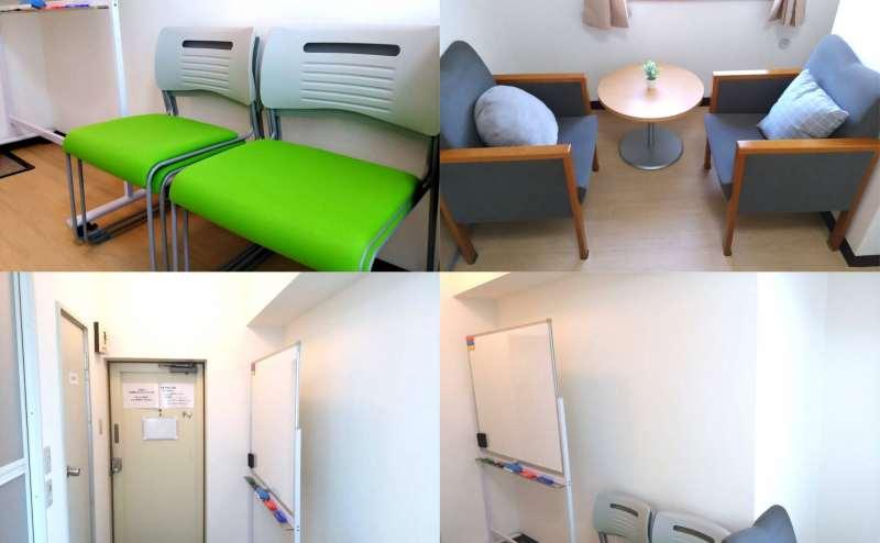 椅子2種類と室内の様子です。玄関向かって左手がトイレ
