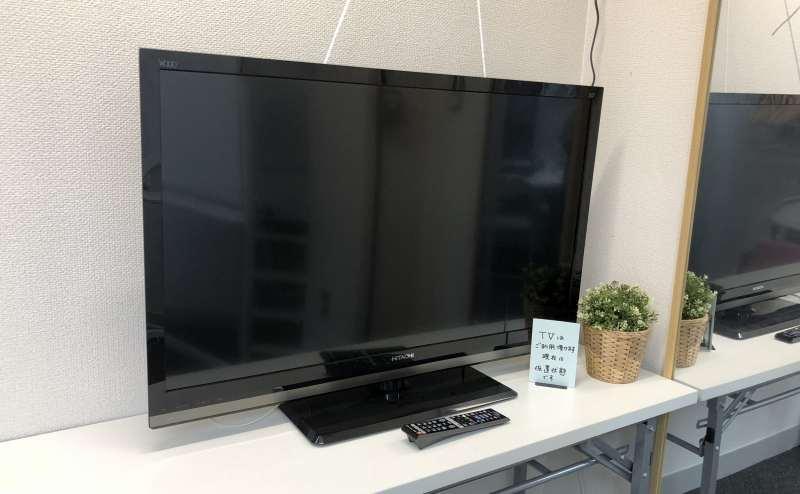 42インチテレビ(※画像はないですがDVDプレーヤーも接続しています)