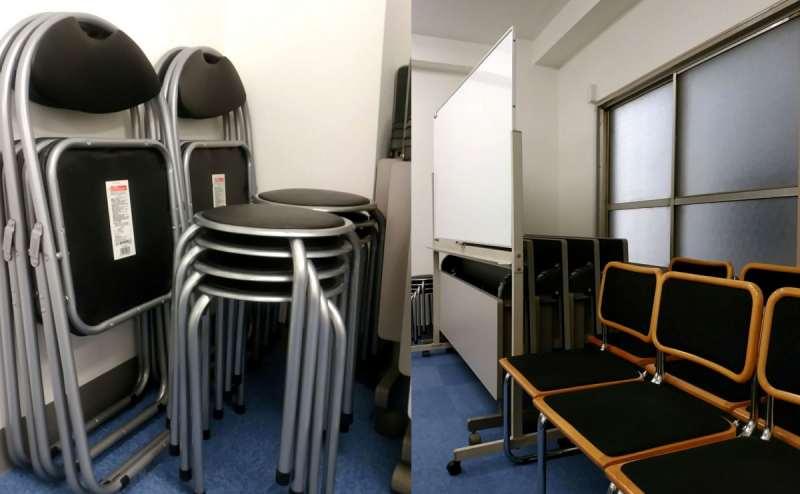 予備の椅子も数種類ご用意