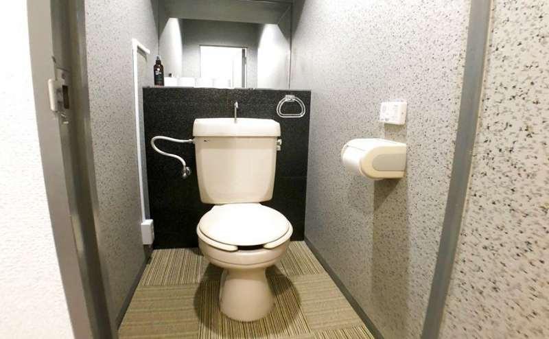 トイレは男女共用です