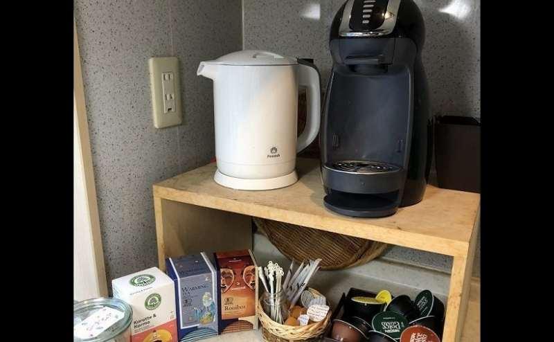Tea&Coffeeコーナー。ご自由にご利用いただけます
