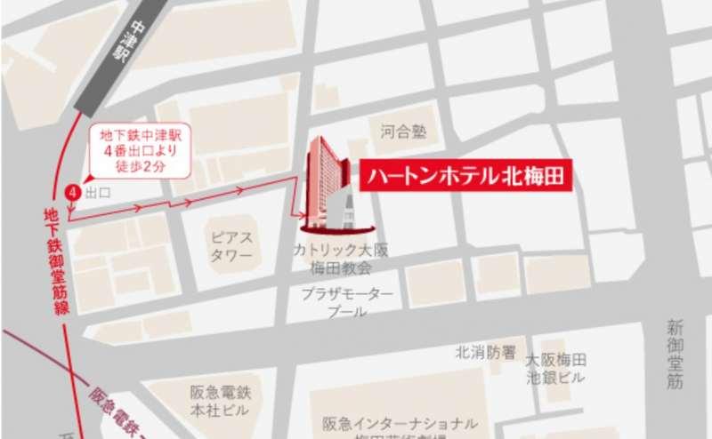 JR、阪急、阪神、地下鉄全て便利。アクセス抜群のホールです