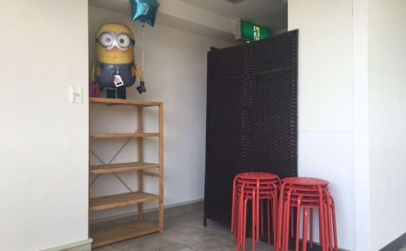 更衣室やトイレもスタジオ内にあります