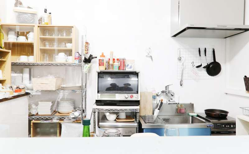 使いやすいコンパクトなキッチン。