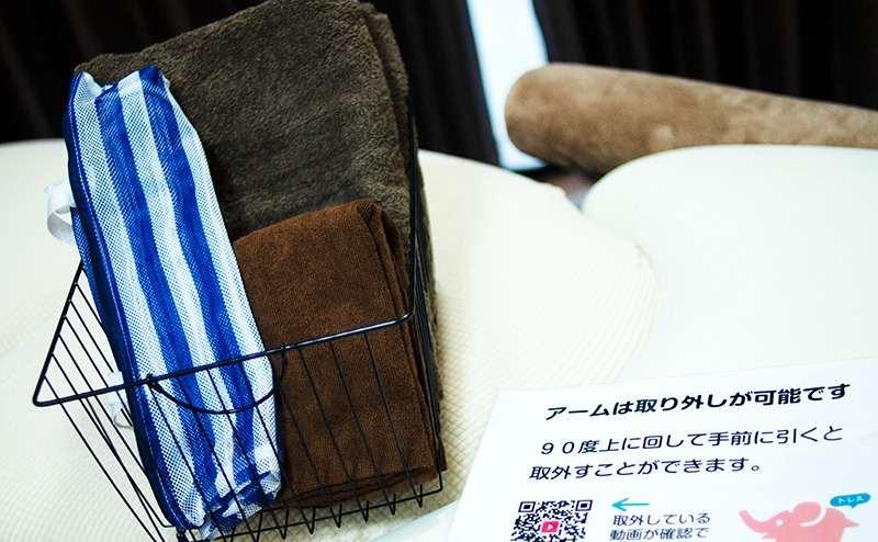 バスタオルとハンドタオル各2枚が標準ご用意されております。
