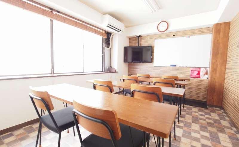英語教室や塾、語学教室やセミナー向けレイアウト。