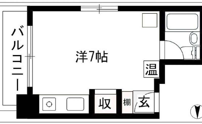 おてがる会議室in758 Share8P『モノトーン』の間取り図