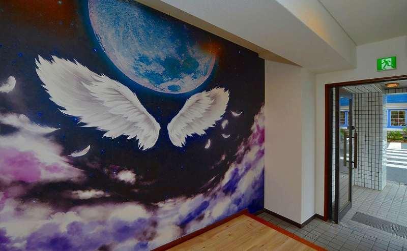 ⑭廊下の羽