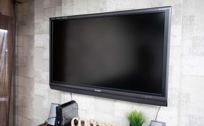 HDMI付き大型モニターでお持ちのPCにつながります