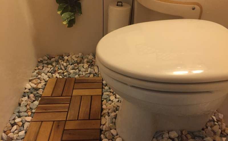 清潔感と個性的なトイレ