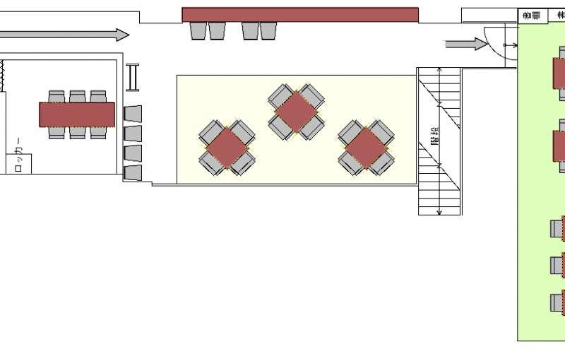 地下1階 全体図【テーブル席、個室、半個室】