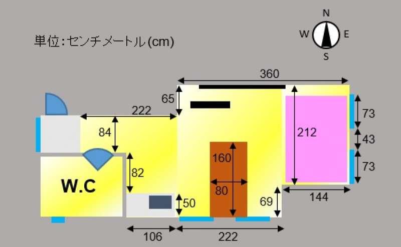 当スペースの間取り図・レイアウト図です