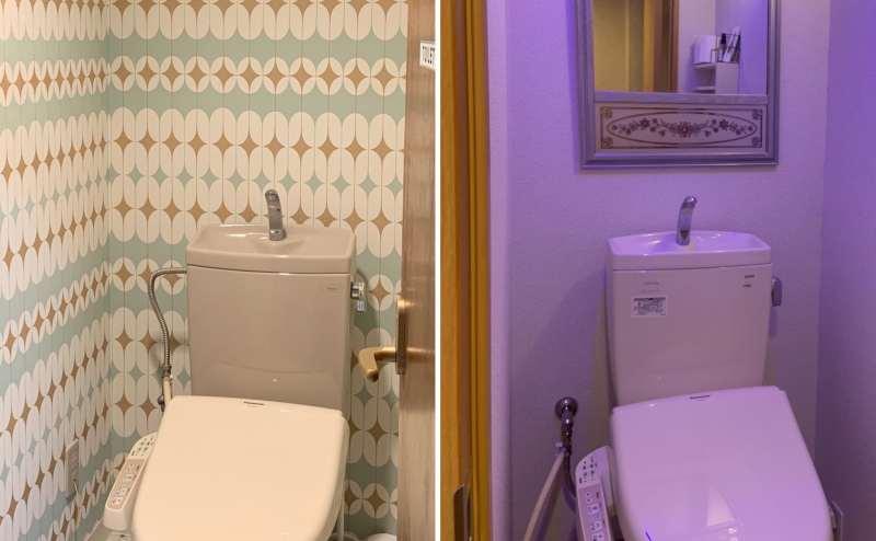 各フロアに1つずつトイレあります