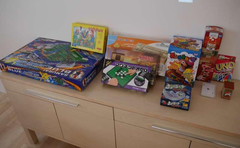 ゲーム類も各種取り揃えております。