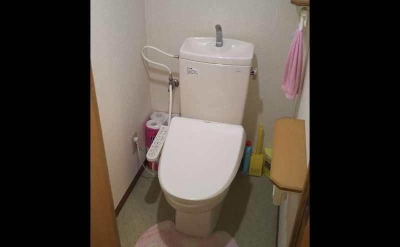 温水便座付トイレ