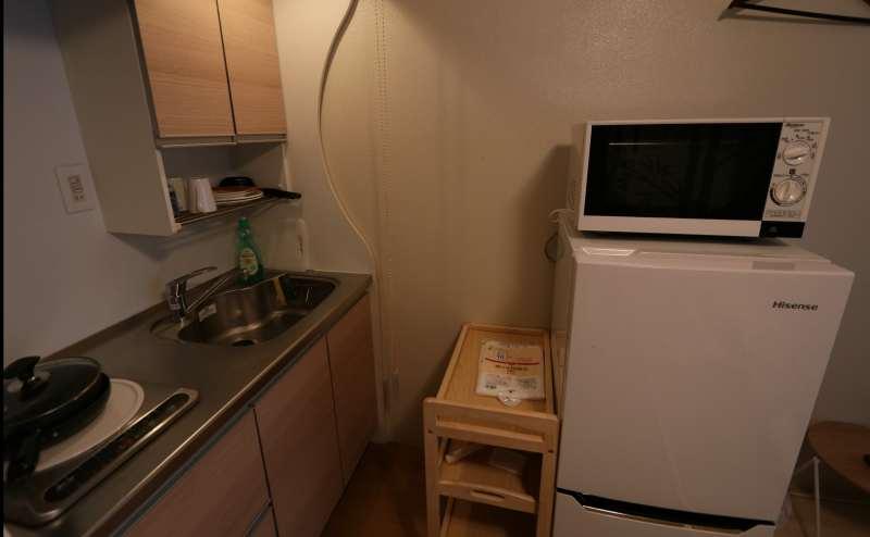 冷蔵庫・電子レンジも完備