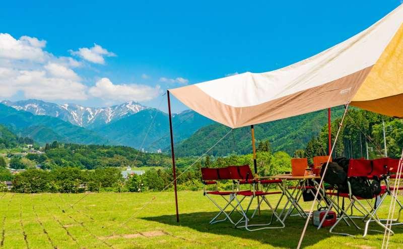 【完全貸切制】谷川岳を眼前に望むキャンピングオフィス「WIND+HORN」