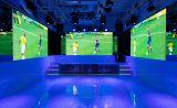 縦2m×横4mの高精細LEDディスプレイを3面(計2m×12m)に設置。 映像作家が製作した多彩なコンテンツを利用可。サッカー、ラグビー、オリンピック等のパブリックビューイングにもご利用いただけます。